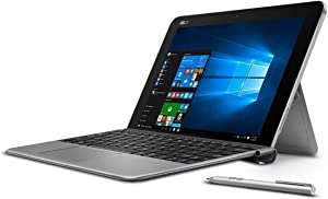 ASUS T102 Transformer Mini 10.1-Inch 2 in 1 Touchscreen Laptop (Intel Z8350, 64GB EMMC, Grey, pen and keyboard included) (Renewed)