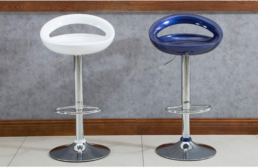 AO-stools Bar Chair Can Be Raised and Lowered Rotating High Stools Leisure Bar Chairs Etc 100x35cm (Color : White) by AO (Image #8)
