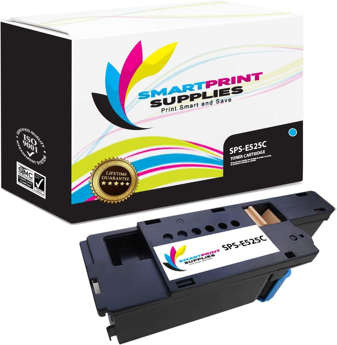 Smart Print Supplies Compatible Toner Cartridge Replacement for Dell E525W Printers (Black, Cyan, Magenta, Yellow) - 5 Pack
