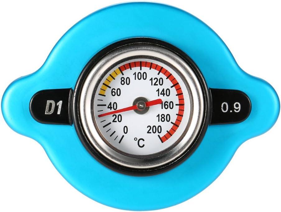 0,9 Bar Coperchio del Tappo del radiatore termostatico con indicatore di Temperatura della Temperatura dellAcqua per Il rimorchio del Carrello elevatore del Camion Godyluck
