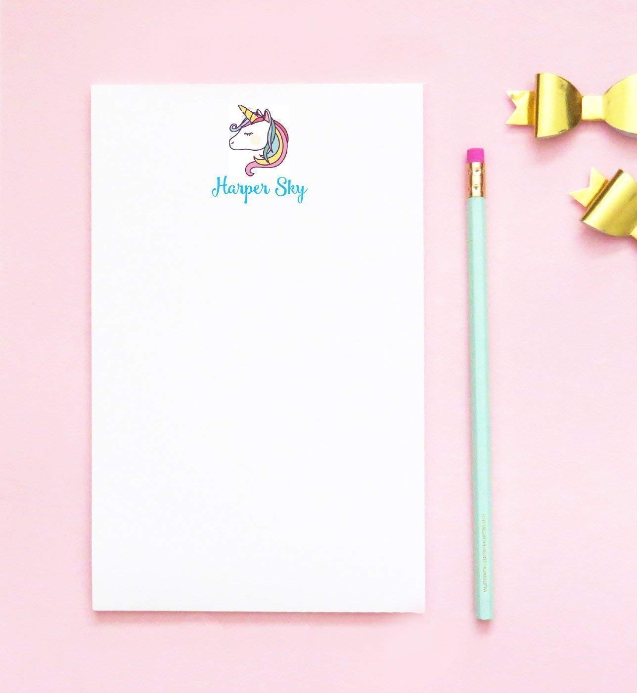 Personalized Notepad 5.5 x 8.5 Writing Pad 50 Pages Fall Scarecrow