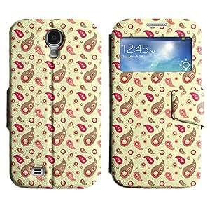 Be-Star Diseño Impreso Colorido Slim Casa Carcasa Funda Case PU Cuero - Stand Function para Samsung Galaxy S4 IV / i9500 / i9505 / i9505G / SGH-i337 ( Amazing Pattern )