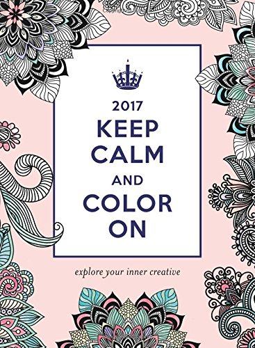 2017 Keep Calm and Color On Wall Poster Calendar