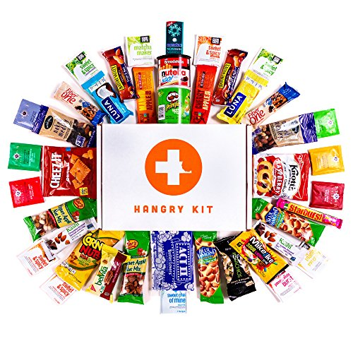 HANGRY WOMAN KIT - Hangry Kit - Care Package - Gift Pack - Variety of 42 Bars, Teas, Candies,Cookies and other Snacks Included - 100% Guaranteed (Best Gift Baskets To Send)