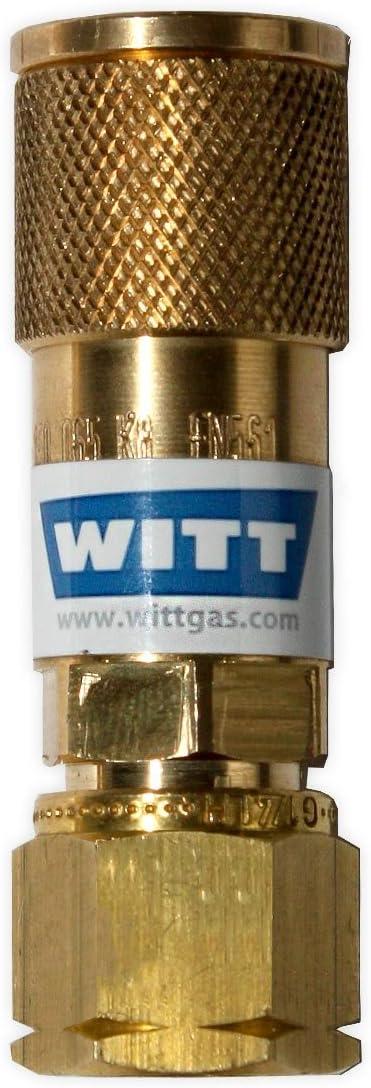 Witt SK100 – 3 acoplamiento rápido propano Gas Camping Gas acoplamiento rápido acoplamiento Gas barbacoa parrilla de gas exterior de cocina hembra g ...