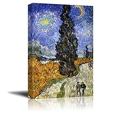 Road with Cypress and Star by Vincent Van Gogh 16