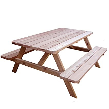 Outdoor Living Today Western Red Cedar Picnic Table - Amazon.com : Outdoor Living Today Western Red Cedar Picnic Table