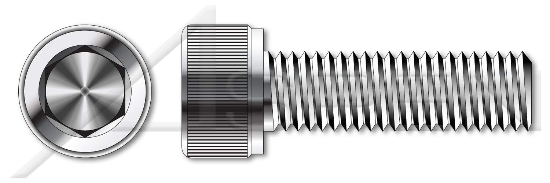 (300 pcs) #10-24 X 7/8'', Hex Socket Head Cap Screws, UNRC Coarse Thread, AISI 304 Stainless Steel (18-8), Holo-Krome