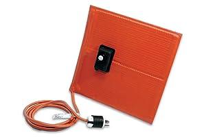 "BriskHeat SRL06121ADJB SRL-ADJ Heating Blanket with Control, 180W, 120V, 6"" Wide, 12"" Length, Silicone Rubber"