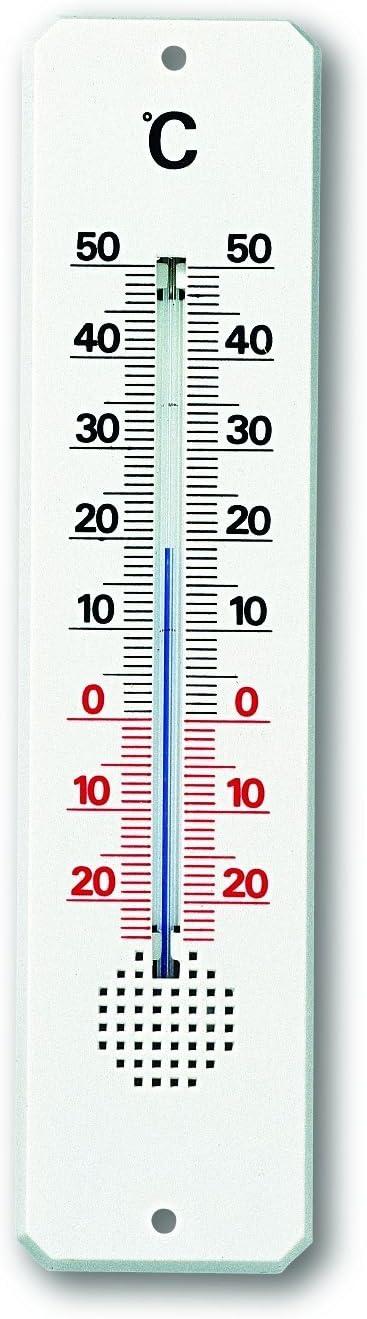 TFA 12.3010 - Termómetro de Interior y Exterior, plástico, Color Blanco