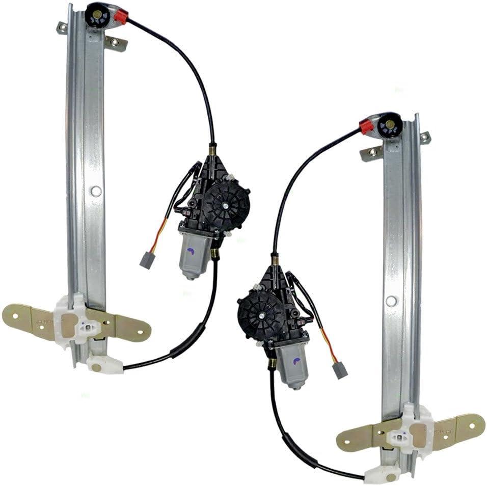 Driver and Passenger Front Power Window Lift Regulators /& Motor Assemblies Replacement for Ford Mercury F2AZ54233B95A F2AZ54233B94A
