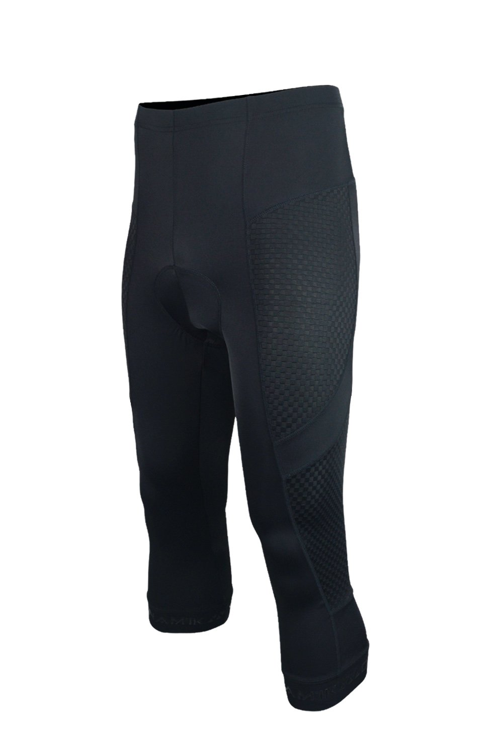 Dinamik Evo Pro Men's Bicycle Knickers- Extra Padded Cycling 3/4 Capri Compression Tights (Black, X-Small)