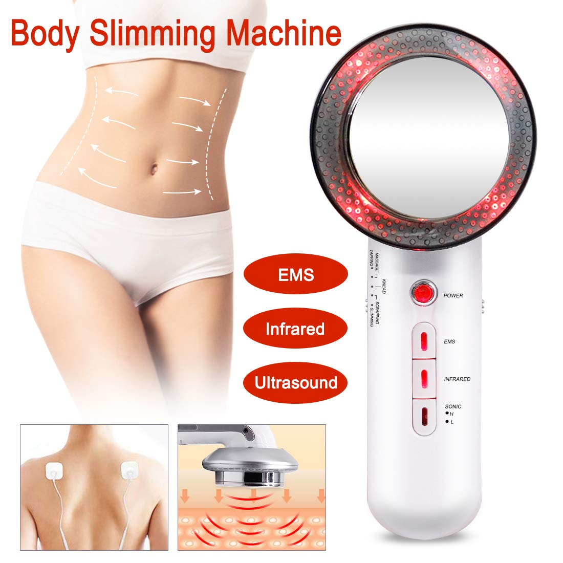 EMS Burn Fat Machine 3 in 1 Multifunctional Infared Body Shaping Massager High Frequency Vibration Sonic Fat Burning Device for Arm Leg Hip Facial Skin Care(US Inventory) by FAMI HELPER