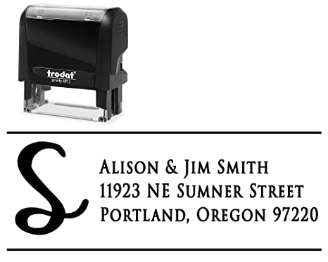 amazon com customized address labels self inking stamp choose