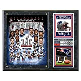 "NFL New England Patriots SB51 Plaque with Metal Plate, 12"" x 15"", Multi"