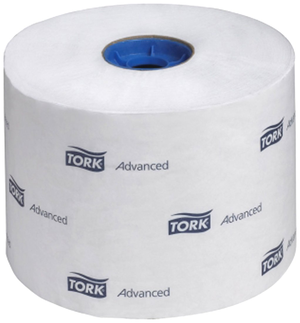 Tork 110292A Advanced High-Capacity 2-Ply Toilet Tissue Roll, White by Tork