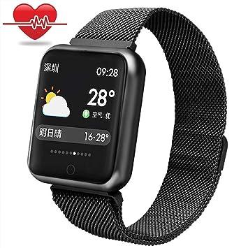 WuShuang Reloj Inteligente, Bluetooth Relojes Inteligentes Impermeable Deportes Ritmo cardíaco presión Arterial Sangre oxígeno sueño