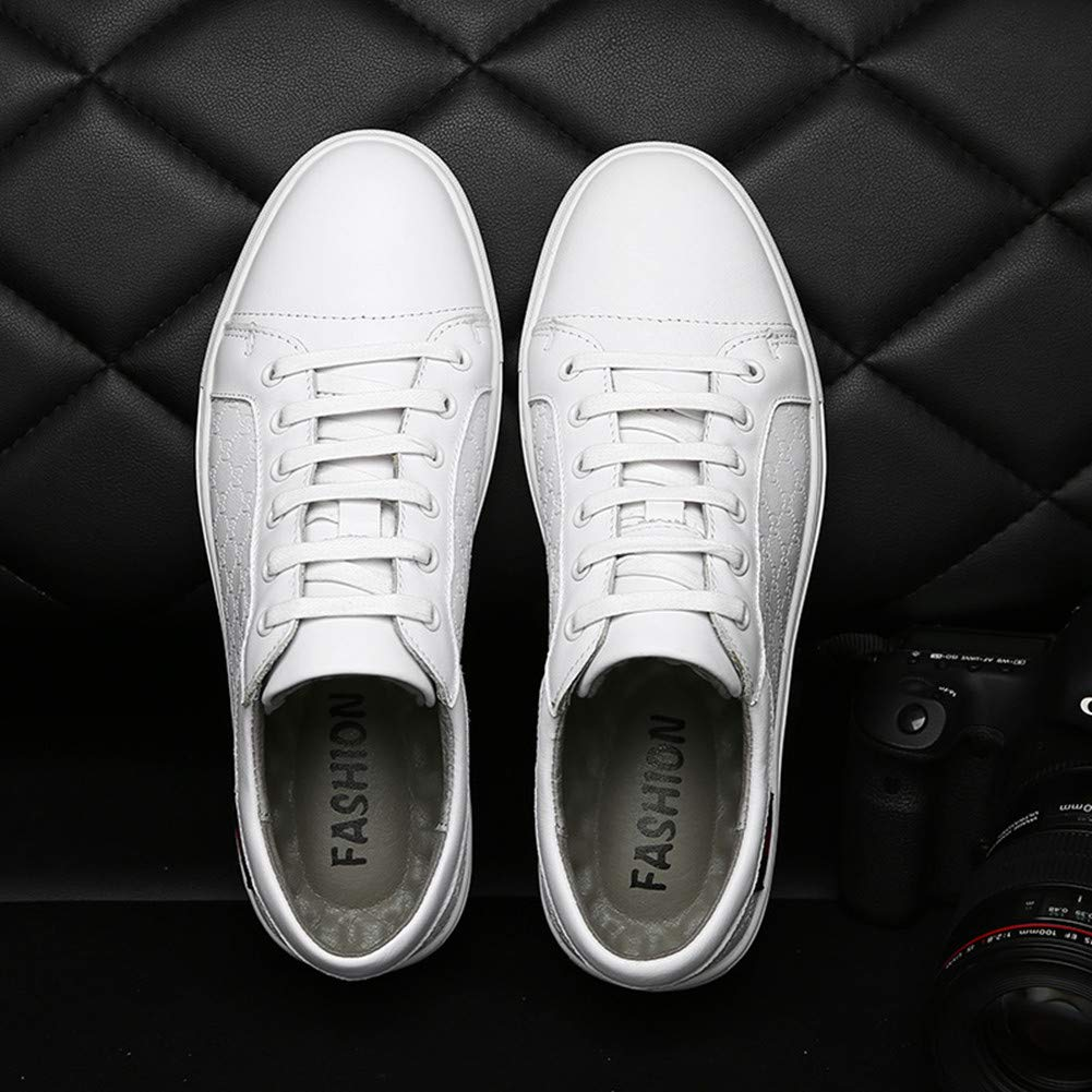 super popular c9894 4f530 ... Aaron Aaron Aaron Men s Driving Premium Genuine Fashion Casual Shoes  9.5 US White B07GGZM9TL 946451. Nike - Court Borough ...