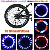 Taktik Bright LED Bike Wheel Lights - Spoke Lights Including 30 Different Patterns Waterproof(IP55) Safety Bicycle wheel light by Easy to Install Auto Open and Close