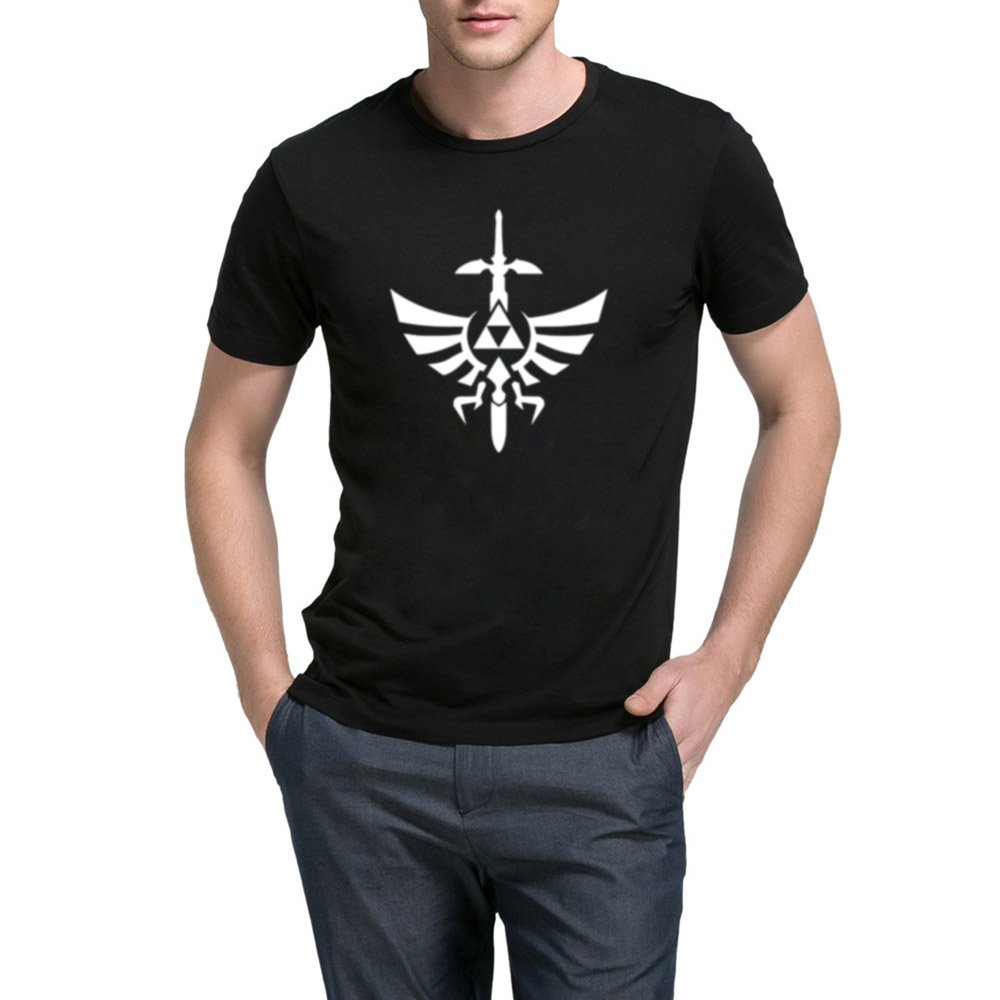 Loo Show S Zelda Triforce With Sword Casual Graphic T Shirts Tee