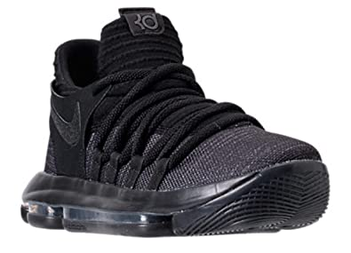 28d6f7540b7ab Image Unavailable. Image not available for. Color  NIKE Zoom KD10 GS  Basketball Shoes Kids Youth All Black ...