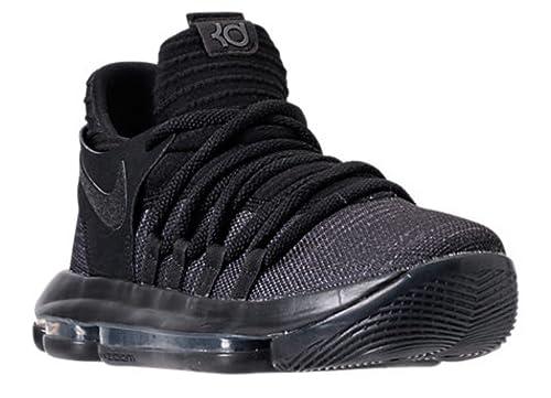 ca1ef9e9b38f6 NIKE Zoom KD10 GS Basketball Shoes Kids Youth All Black New 918365-004 - 5
