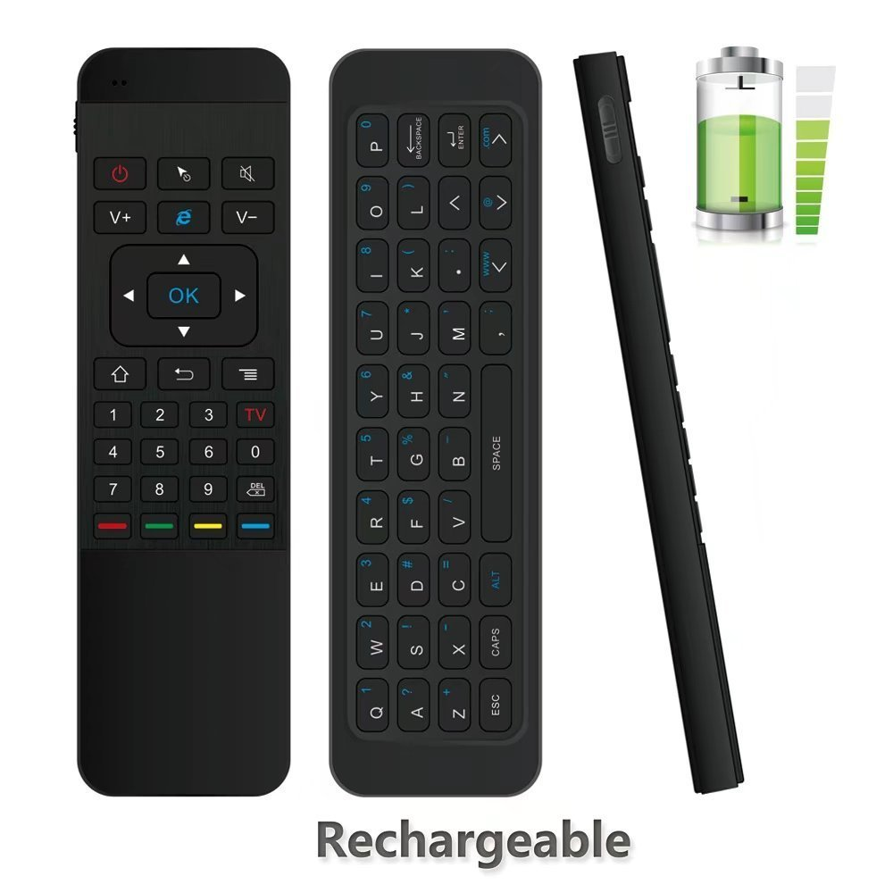 Tripsky P3 6-axis 2.4GHz Mini Portable Wireless Air mouse Remote Control Keyboard, 3-Gyro + 3-Gsensor for Google Android TV Box, IPTV, HTPC, Windows, MAC OS, PS3