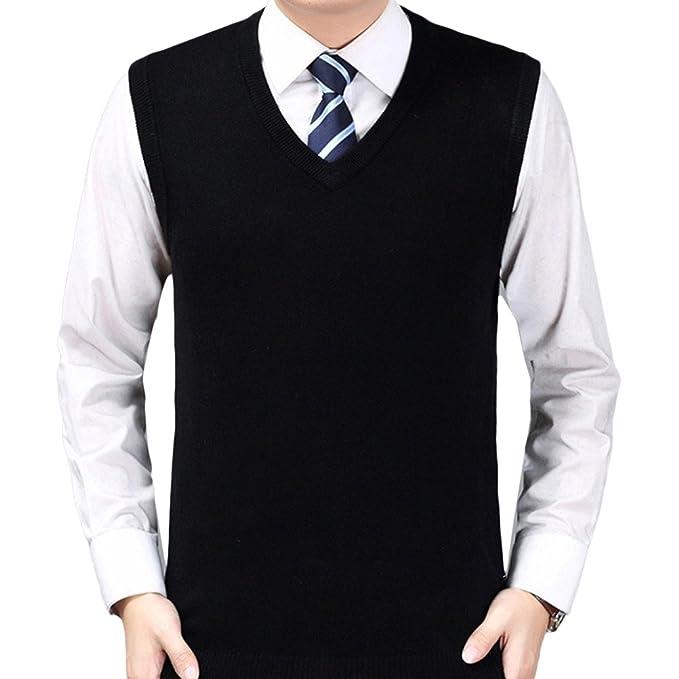 Zhhlinyuan Mens Mens Britsh Style Business Spring Soft Sleeveless ...