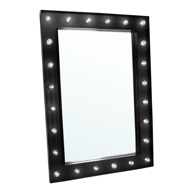 Noir Dressing Table Mirror Taylor /& Brown Hollywood Miroir de Maquillage avec /Éclairage LED /à Fixer au Mur
