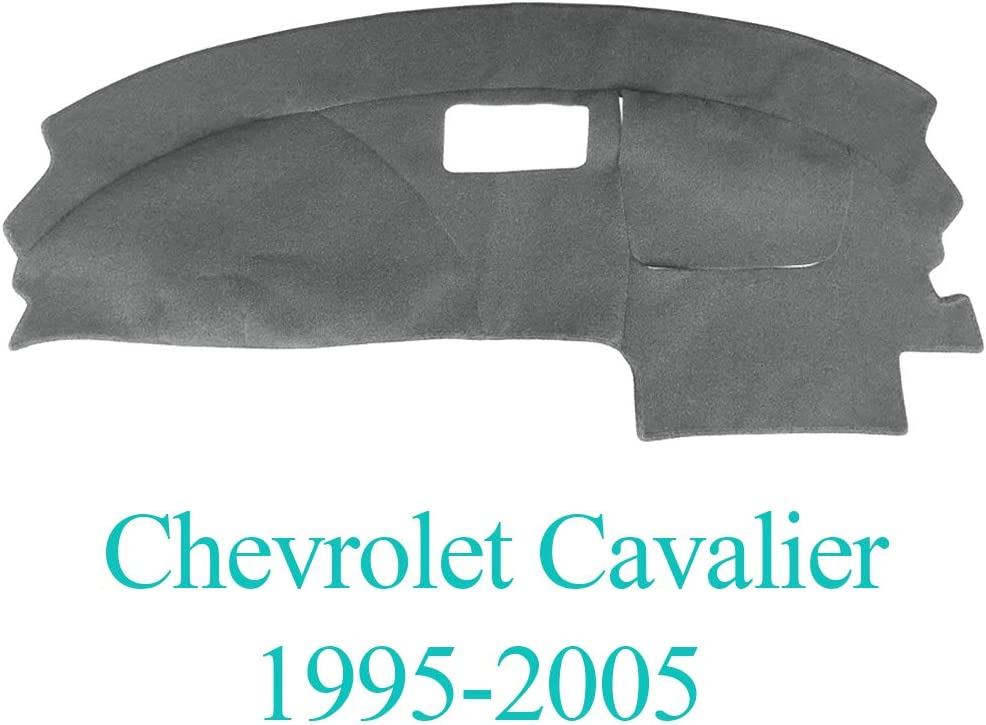AKMOTOR Dash Cover Dashboard Cover Mat Carpet Pad Fit for Chevy Chevrolet Cavalier 1995-2005 (Gray) Y46