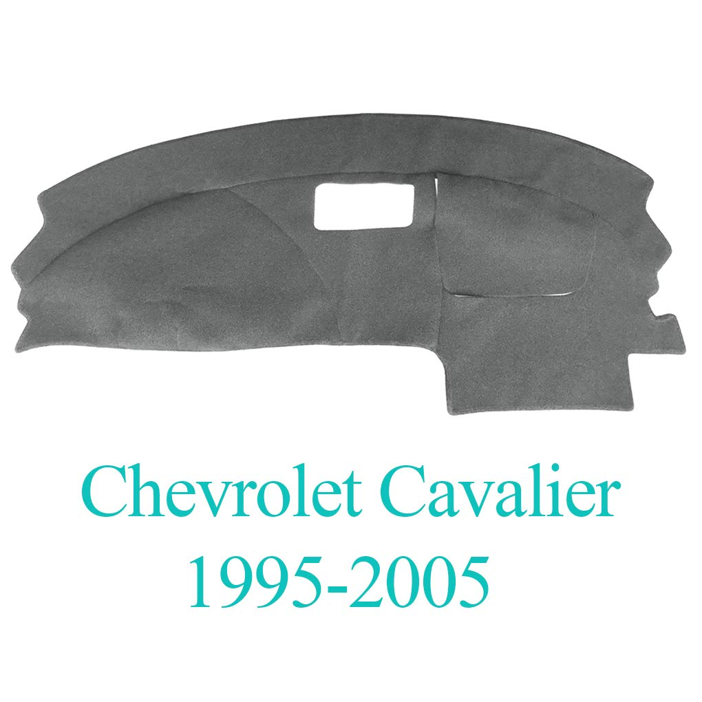 Yiz Dash Cover Dashboard Cover Mat Carpet Pad Fit for Chevy Chevrolet Cavalier 1995-2005 Gray Y46