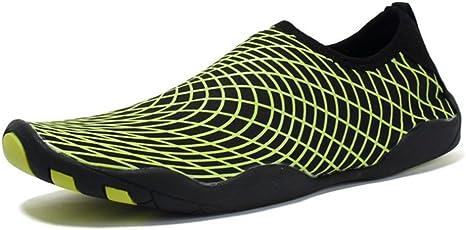 RENMEN Zapatos de Playa par Zapatos de natación Zapatos de Parche Descalzo Antideslizantes Zapatos de vadeo al Aire Libre Zapatos 35-45, Green: Amazon.es: Deportes y aire libre