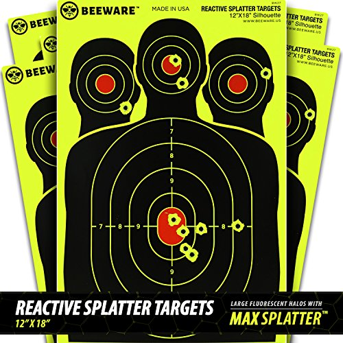 beeware-premium-reactive-splatter-targets-fluorescent-silhouette-targets-for-shooting-12x18-8-pack