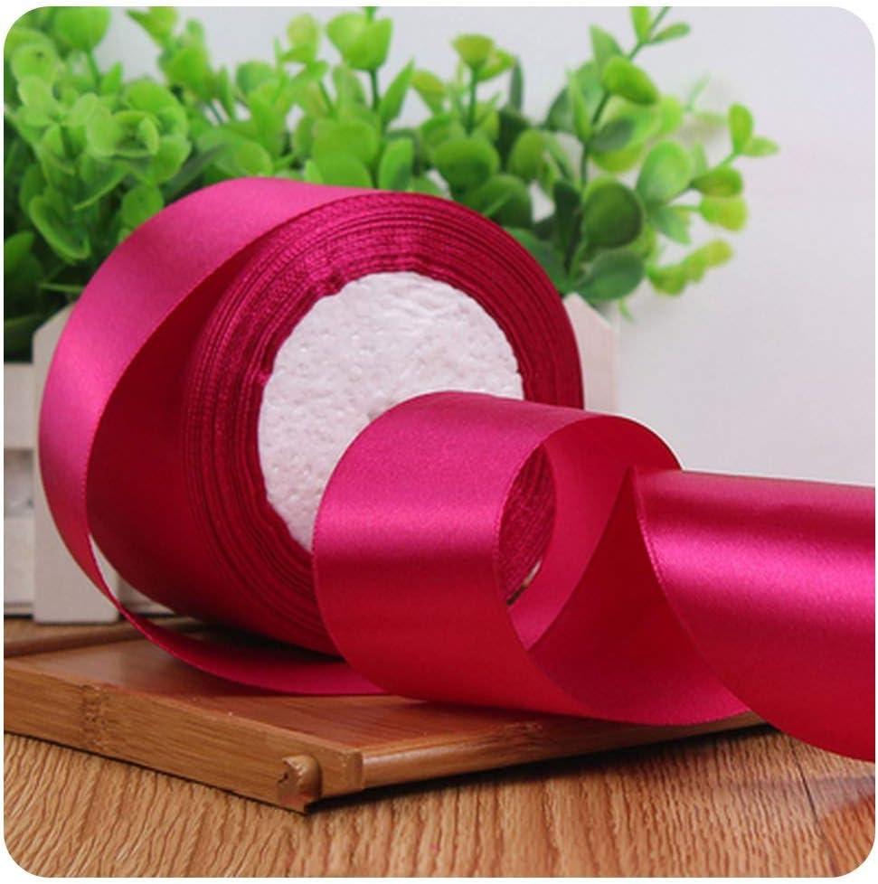 6mm 10mm 15mm 20mm 25mm 38mm 50mm Pink Silk Satin Ribbon Party Christmas Ribbon