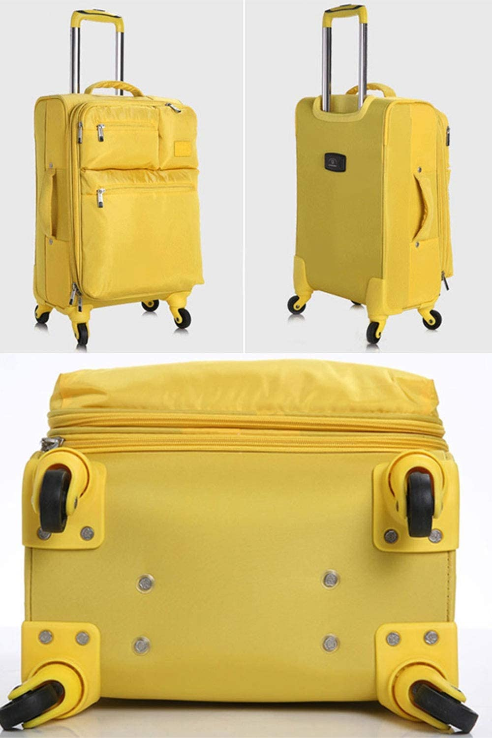 Color : Yellow, Size : 28 inch BFZJ suitcases 20 Inchs//24 Inches//28 Inches Expandable Spinner Suitcase,Universal Wheel Luggage Soft Box Oxford Cloth Student Pull Box Trolley Case