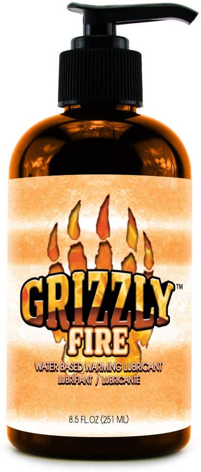 Nature Lovin' Grizzly Fire Water Based Warming Personal Lubricant, 8.5 oz Glycerin and Paraben Free