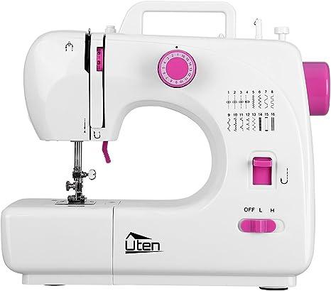 Máquina de coser 2 velocidades 16 puntadas doble aguja Overlock ...
