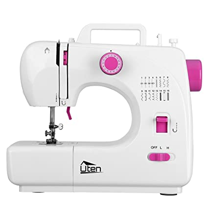 Amazon Portable Sewing Machine 40 Speed 40 Stitches Double Gorgeous How To Thread A Needle On A Sewing Machine
