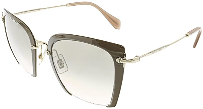 Miu Miu Damen Sonnenbrille 0MU52RS 1AB0A7, Schwarz (Black/Grey), 52