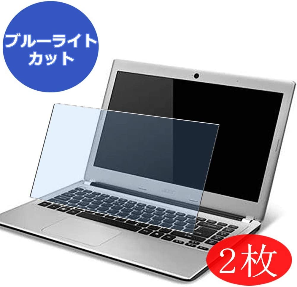 """【2 Pack】 Synvy Anti Blue Light Screen Protector for ACER Aspire V5-431 / V5-431G 14"""" Screen Film Protective Protectors [Not Tempered Glass]"""