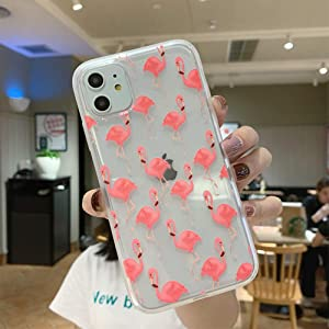JICUIKE iPhone 11 Case, [Color Printed] Cute Animal Pattern Painted Silicone Protective Skin Ultra Slim Clear Soft TPU Bumper Back Cover for iPhone 11 Shell 6.1 inch [Flamingos]