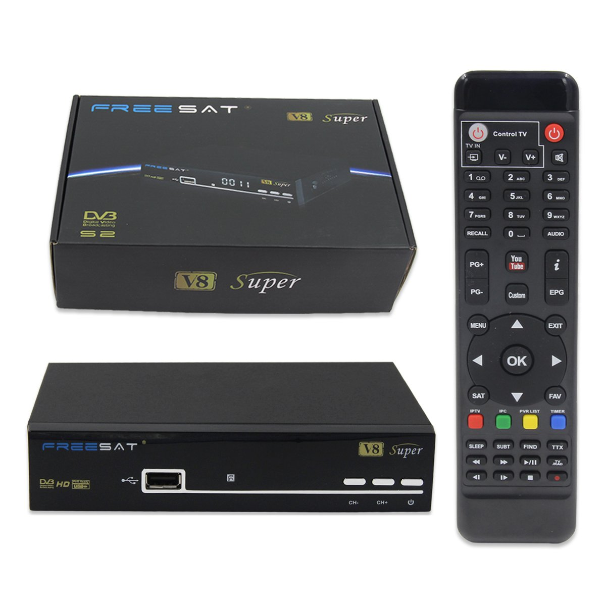 Freesat V Súper DVB S Receptor TV Digital Satélite Full HD P