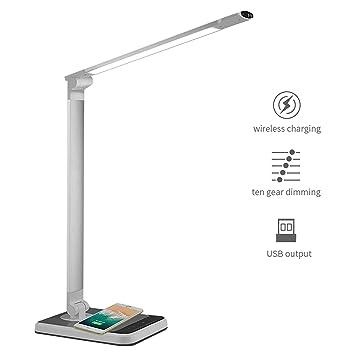 Lámpara de escritorio Lámparas de mesa Cargador inalámbrico ...