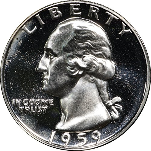 1959 P Washington Silver Quarter, 50C Proof w/Cameo Contrast Obv & ()