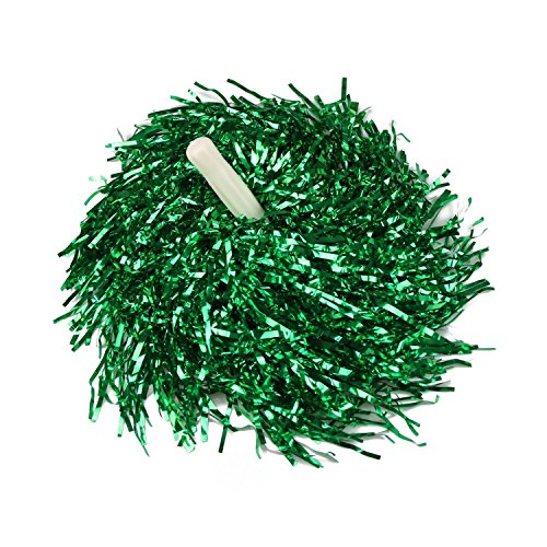 Green Plastic Cheerleader Cheerleading Pom Poms Party Costume Accessory Set Ball Dance Fancy Dress Night Party Sports Pompoms Cheer 1dz
