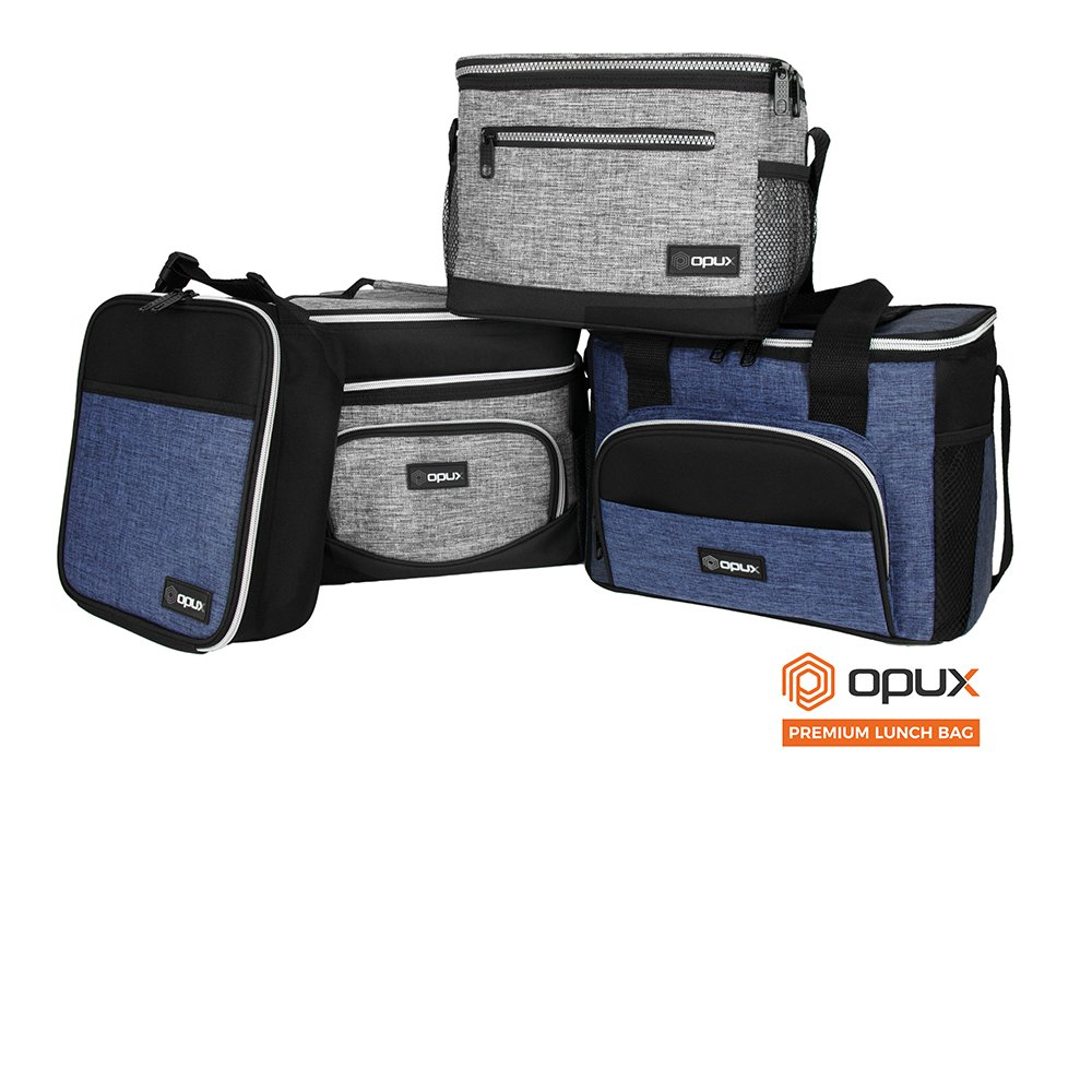 OPUX Premium Thermal Insulated Mini Lunch Bag | School Lunch Box For Boys, Girls, Kids, Adults | Soft Leakproof Liner | Compact Lunch Pail for Office (Heather Gray) by OPUX (Image #8)
