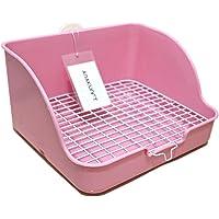 HongYH Pet Small Rat Toilet, Square Potty Trainer Corner Litter Bedding Box Pet Pan for Small Animal/rabbit/guinea Pig/galesaur/ferret