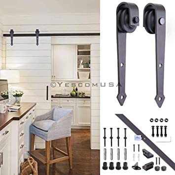 Set de color café, 2 m, estilo de flecha, para puerta corredera de hierro, 35 – 40 mm, 40 – 45 mm, puerta lateral, sala de estar, baño, cocina, inodoro: Amazon.es: Bricolaje y herramientas