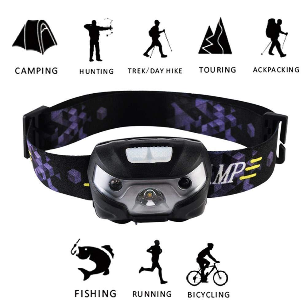 500 L caza y caminar recargable 5 modos ultrabrillantes L/ámpara frontal LED para correr lectura impermeable camping manos libres MiXXAR