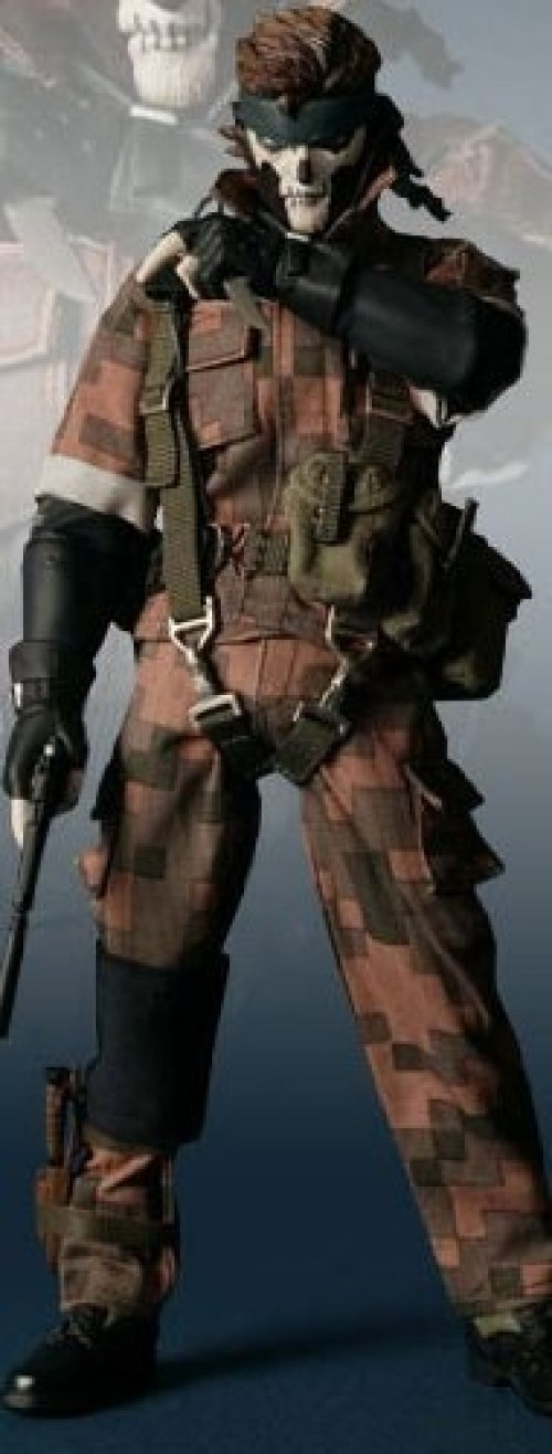 Metal Gear Solid 3 Snake Eater Medicom RAH Real Action Heroes 16 Scale Figure Snake Squares Camo by Medicom B01LVWPBL0
